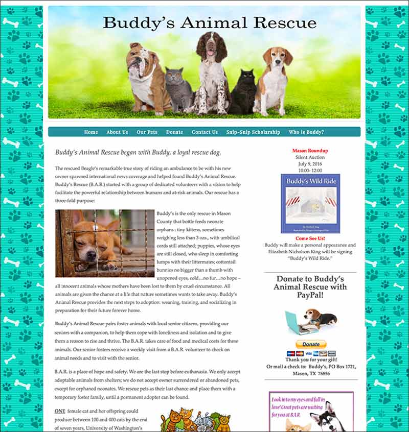 Buddy's Animal Rescue, Mason, TX