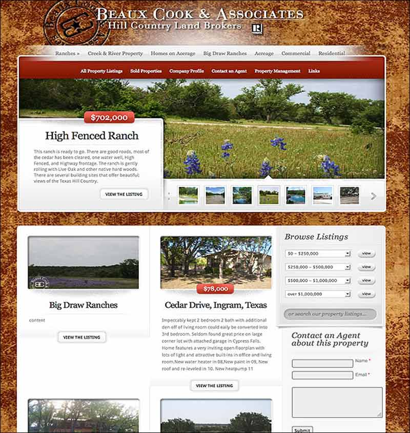 Hill Country Land Broker, Medina, TX